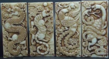 OLD-font-b-Jade-b-font-Book-Chinese-animal-four-font-b-Dragon-b-font-white