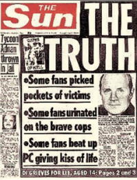 Image result for hillsborough disaster newspaper