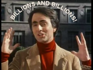Image result for carl sagan billions and billions