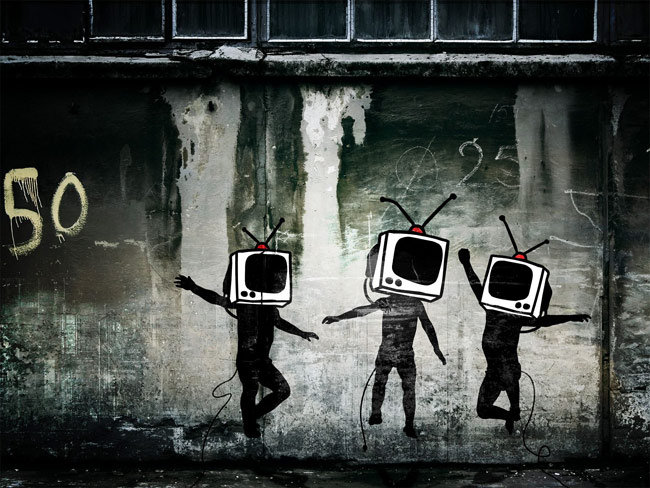Image result for tv used to control the masses